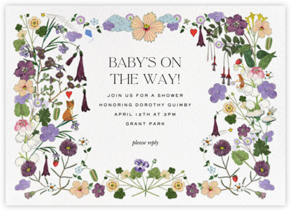 Woodland Walk - Stephanie Fishwick - Baby Shower Invitations