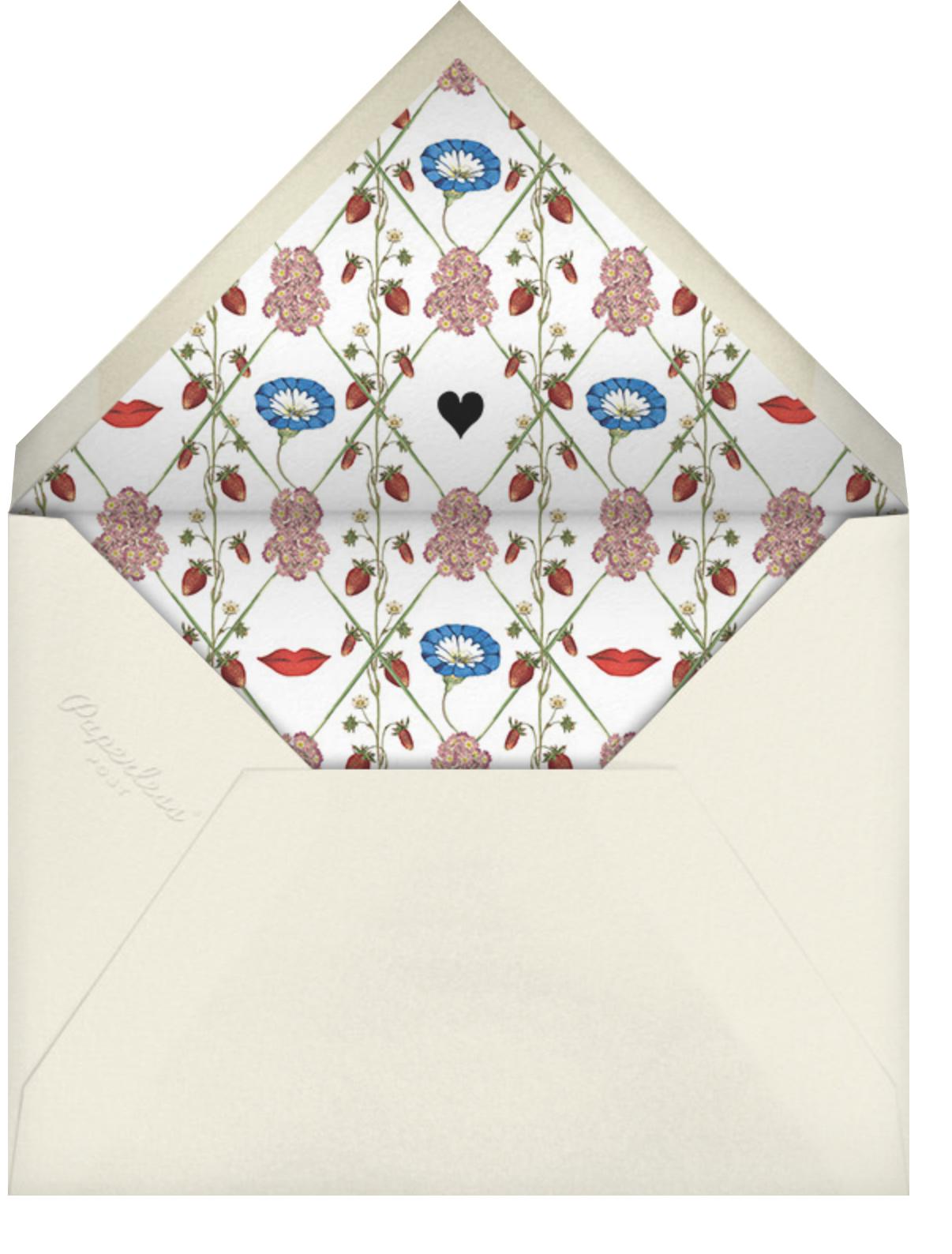 Strawberry Fields - Stephanie Fishwick - Baby shower - envelope back