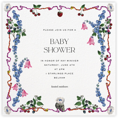 Wild Berries - Stephanie Fishwick - Baby Shower Invitations