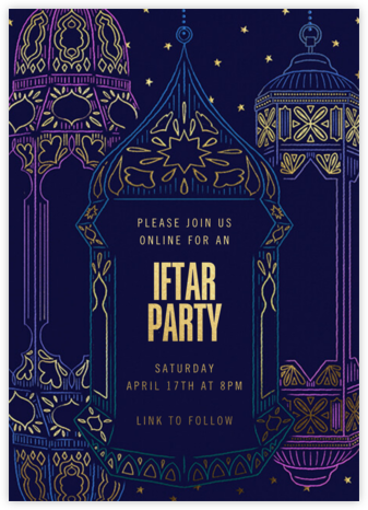 Ramadan Glow - Paperless Post - Online Party Invitations