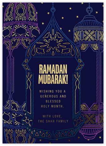 Ramadan Glow (Greeting) - Paperless Post -