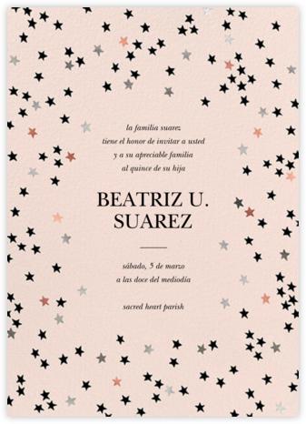 Sky Glitter - Meringue - kate spade new york - Birthday invitations