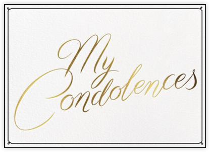 Condolences - Paperless Post -