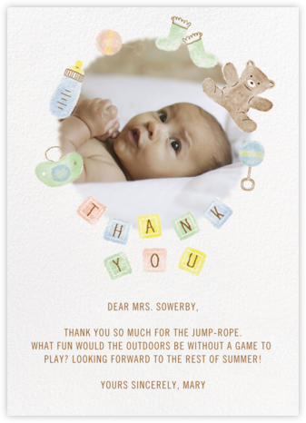 Thank You Blocks - Paperless Post - Online Thank You Cards