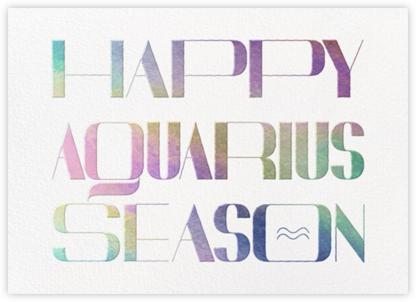 Your Season - Aquarius - Paperless Post -