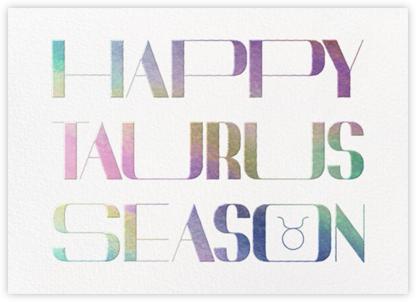 Your Season - Taurus - Paperless Post -