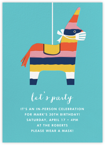 Masked Donkey - Cheree Berry - Adult Birthday Invitations
