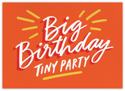 Tiny Party - Cheree Berry - Adult Birthday Invitations
