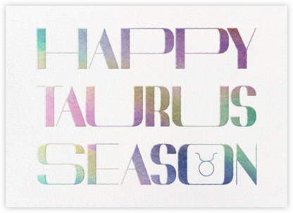 Your Season - Taurus - Paperless Post - Adult Birthday Invitations