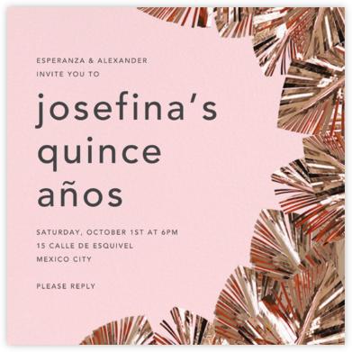 Shimmer - Pink/Copper - CONFETTISYSTEM - Quinceañera Invitations
