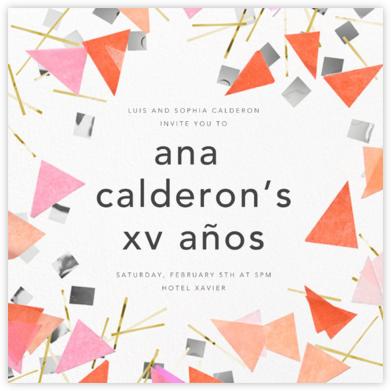 Scatter - Pink - CONFETTISYSTEM - Quinceañera Invitations