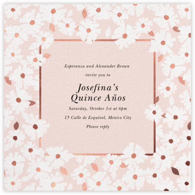 Daisy Field - White - kate spade new york - Quinceañera Invitations