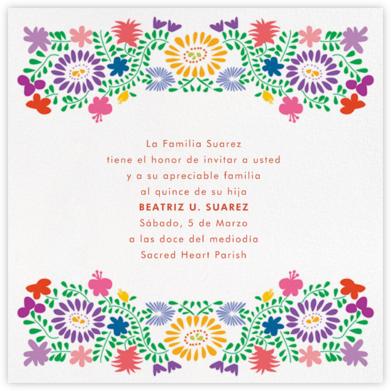 Oaxacan (Square) - White - Paperless Post - Quinceañera Invitations