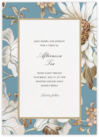 Painted Flowers - Bondi - Oscar de la Renta - Brunch invitations