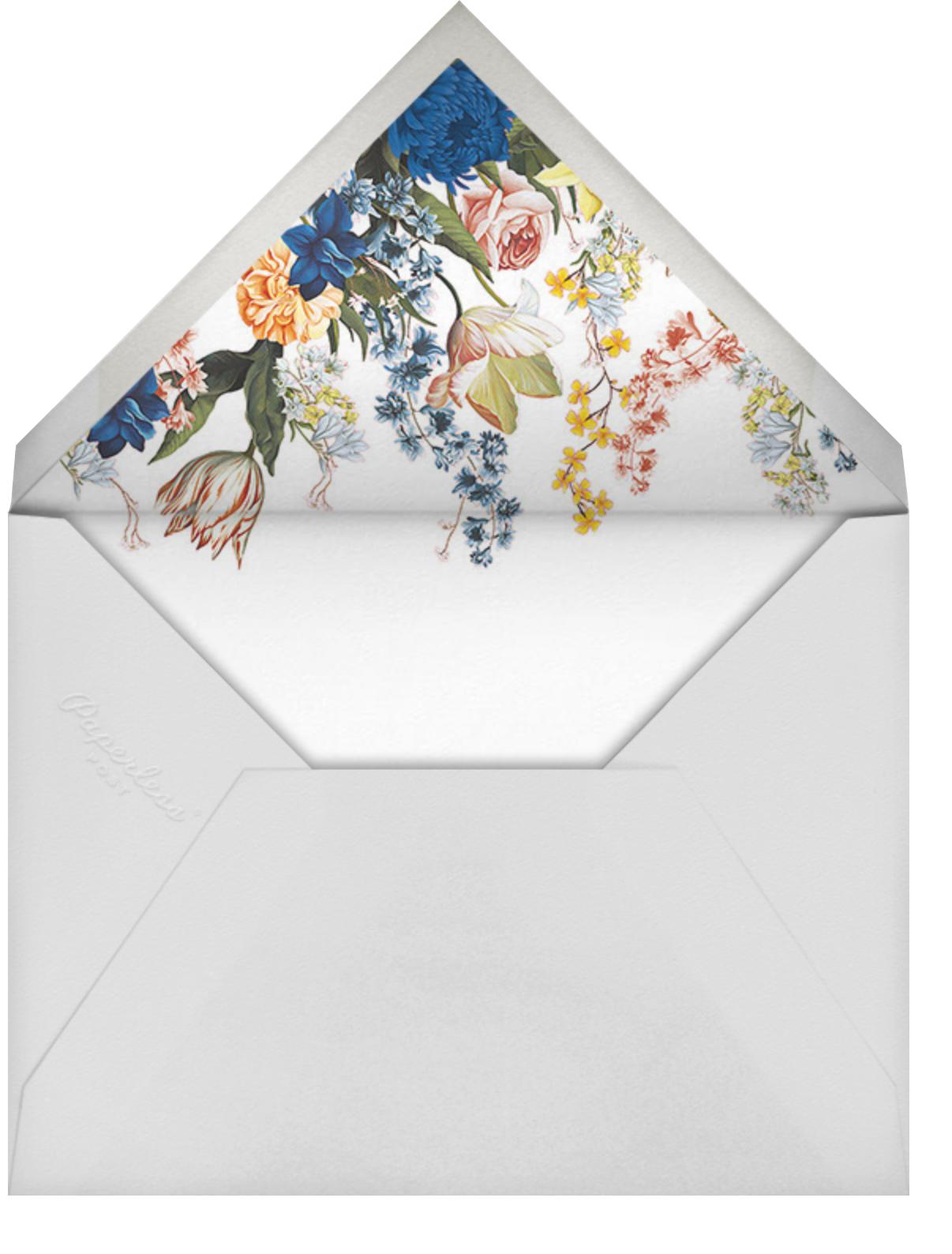 Adorned Aisle (Invitation) - White - Oscar de la Renta - Envelope