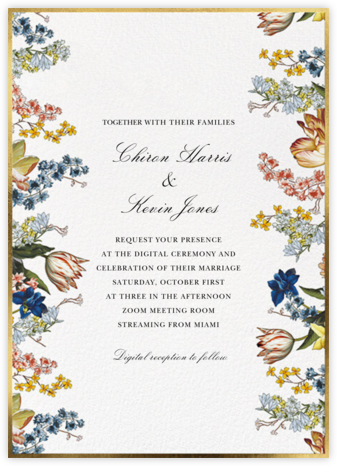 Adorned Aisle (Invitation) - White - Oscar de la Renta - Virtual Wedding Invitations