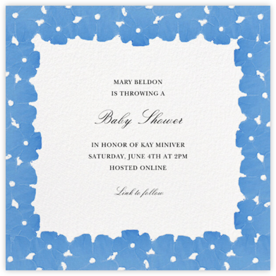 Painted Blooms - Antwerp - Oscar de la Renta - Baby Shower Invitations