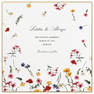Floating Floral (Save the Date) - Oscar de la Renta -