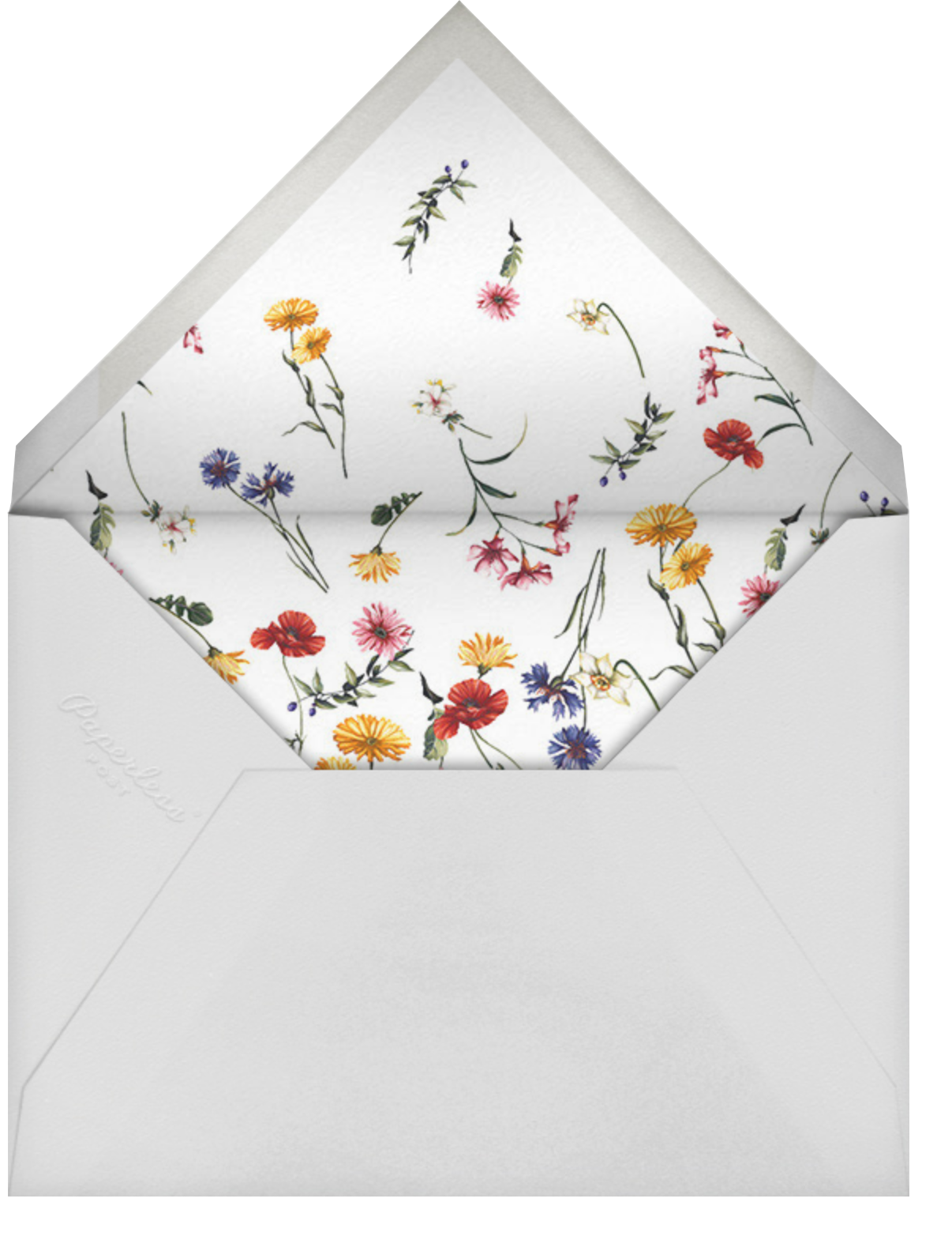 Floating Floral (Save the Date) - Oscar de la Renta - Save the date - envelope back