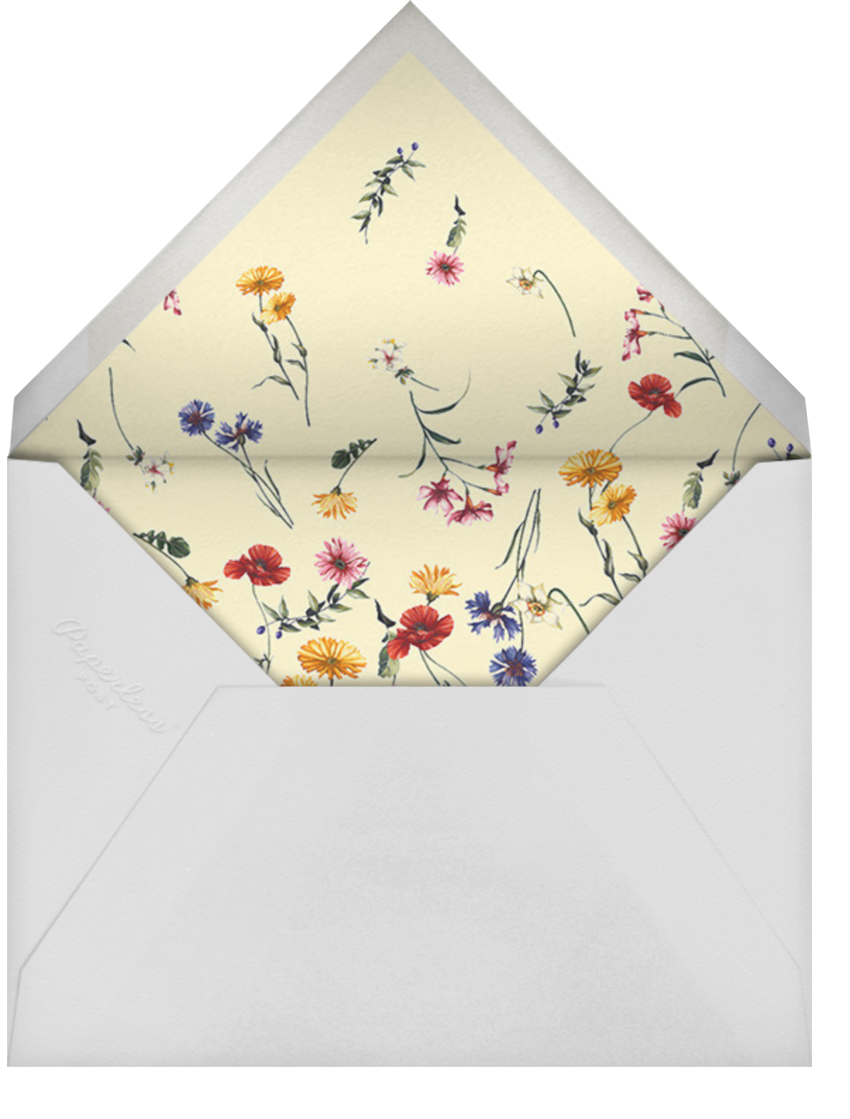 Fiore - Oscar de la Renta - Bridal shower - envelope back