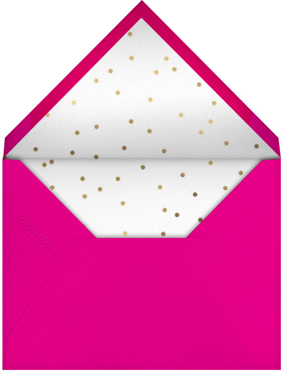 Fab Flamingos - Hello!Lucky - Birthday - envelope back