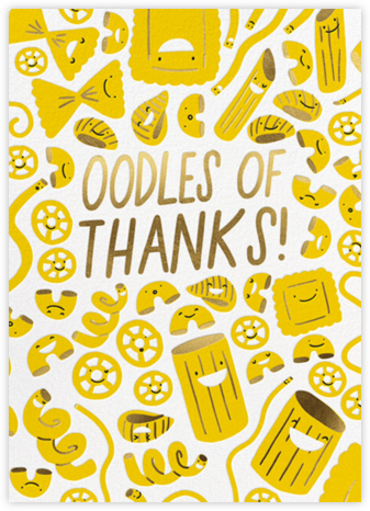 Oodles - Thank You - Hello!Lucky - Online Thank You Cards