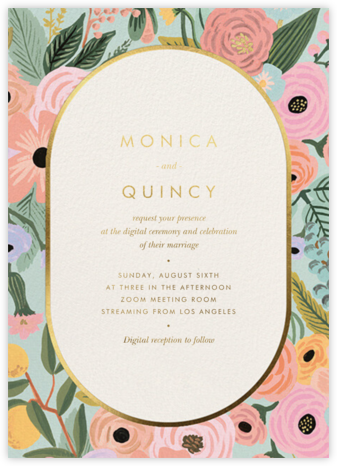 Garden Party Frame (Invitation) - Rifle Paper Co. - Wedding Invitations
