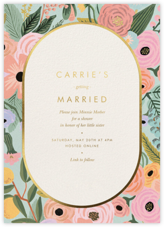 Garden Party Frame - Rifle Paper Co. - Bridal shower invitations