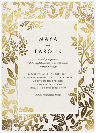 Gold Canopy (Invitation) - Rifle Paper Co. - Wedding Invitations
