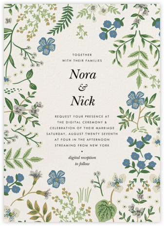 Hawthorne (Invitation) - Rifle Paper Co. - Virtual Wedding Invitations