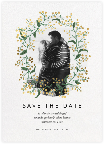 Budding Vine - Gold - Rifle Paper Co. - Photo save the dates
