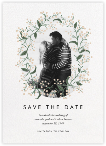 Buddding Vine - Meringue - Rifle Paper Co. - Save the dates