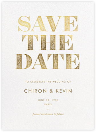 Gilded Save the Date - Rifle Paper Co. - Rifle Paper Co.