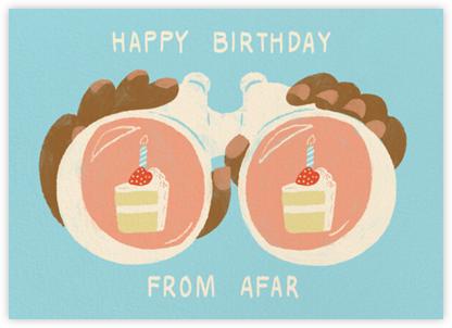 Binocular Birthday - Tan - Paperless Post -