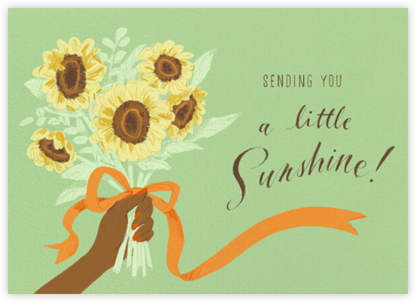 Handful of Sunshine - Tan - Paperless Post -
