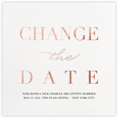 Remnant (New Date) - Rose Gold - Paperless Post - Save the dates