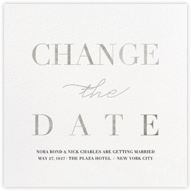 Remnant (New Date) - Silver - Paperless Post - Save the dates