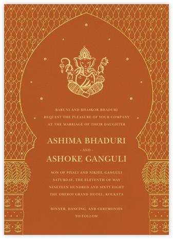 Vinayanka (Invitation) - Orange - Paperless Post - Indian Wedding Cards