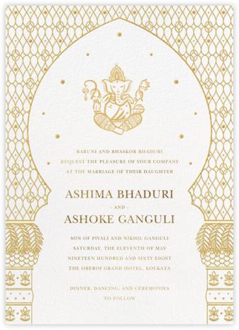Vinayanka (Invitation) - White - Paperless Post