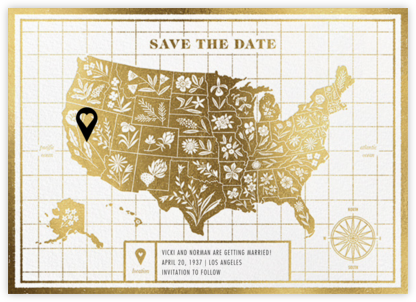 State of Our Union - Gold - Paperless Post - Save the dates