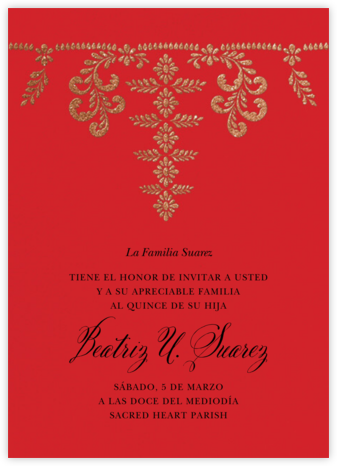 Ornate Occasion - Red - Paperless Post