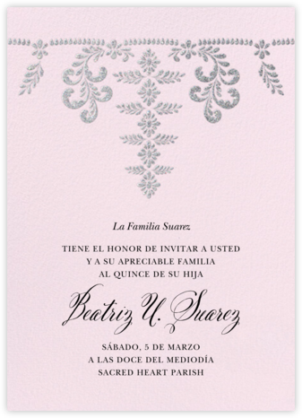 Ornate Occasion - Sweet Pea - Paperless Post - Quinceañera Invitations