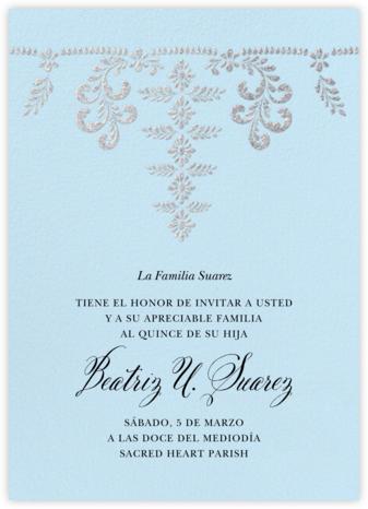 Ornate Occasion - Glacier - Paperless Post - Quinceañera Invitations