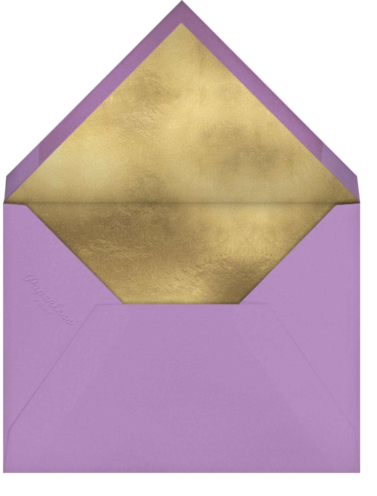 Hermoso Vestido Photo - Lilac - Paperless Post - Quinceañera - envelope back