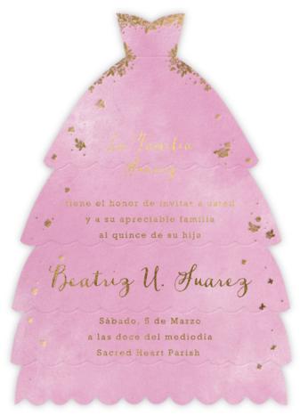 Hermoso Vestido - Mauve - Paperless Post - Quinceañera Invitations