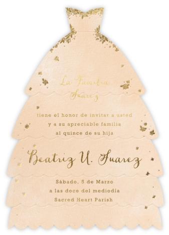 Hermoso Vestido - Bellini - Paperless Post - Quinceañera Invitations