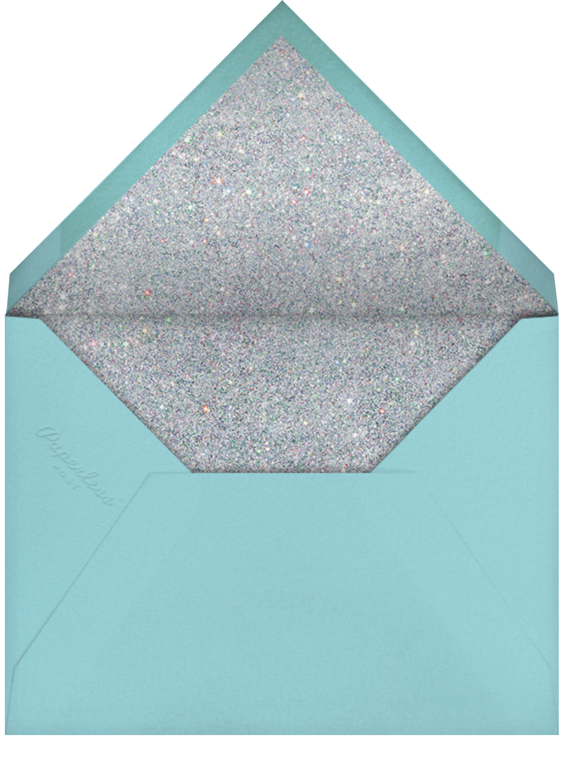 Glitter Glamour - Paperless Post - Quinceañera - envelope back