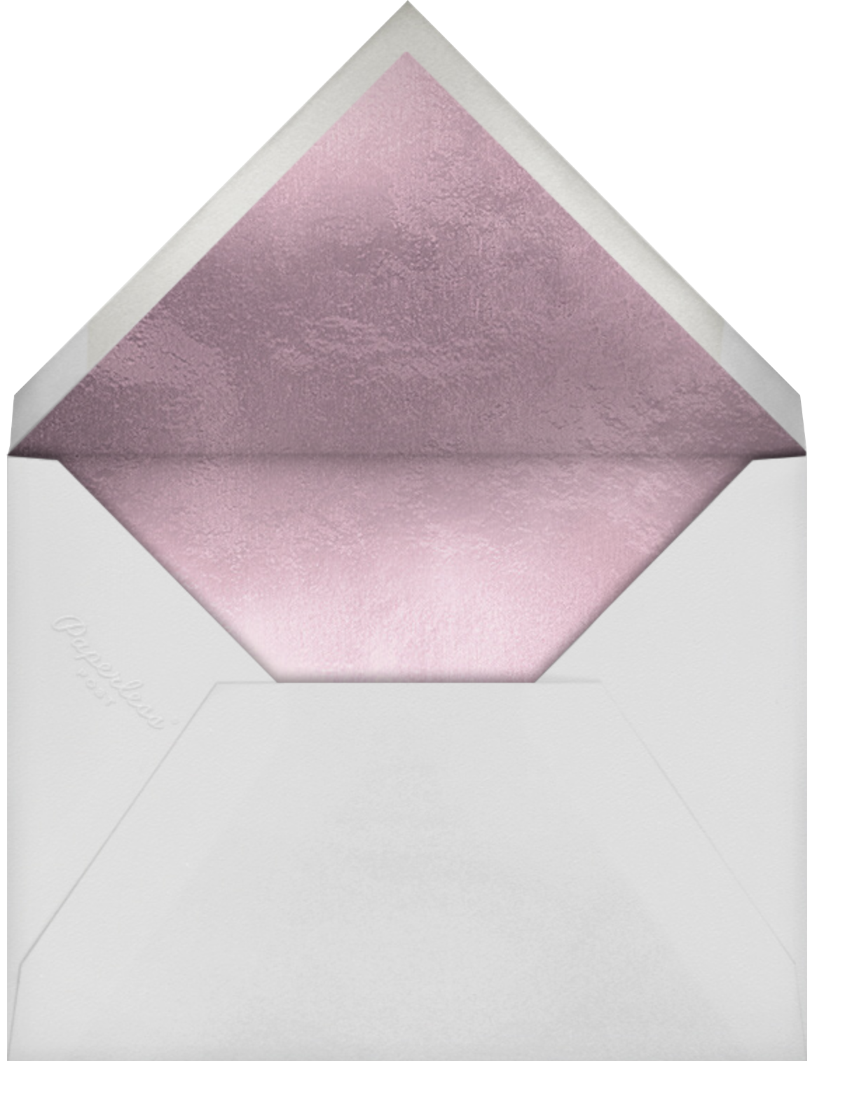 Shimmering Blooms Photo - Paperless Post - Quinceañera - envelope back