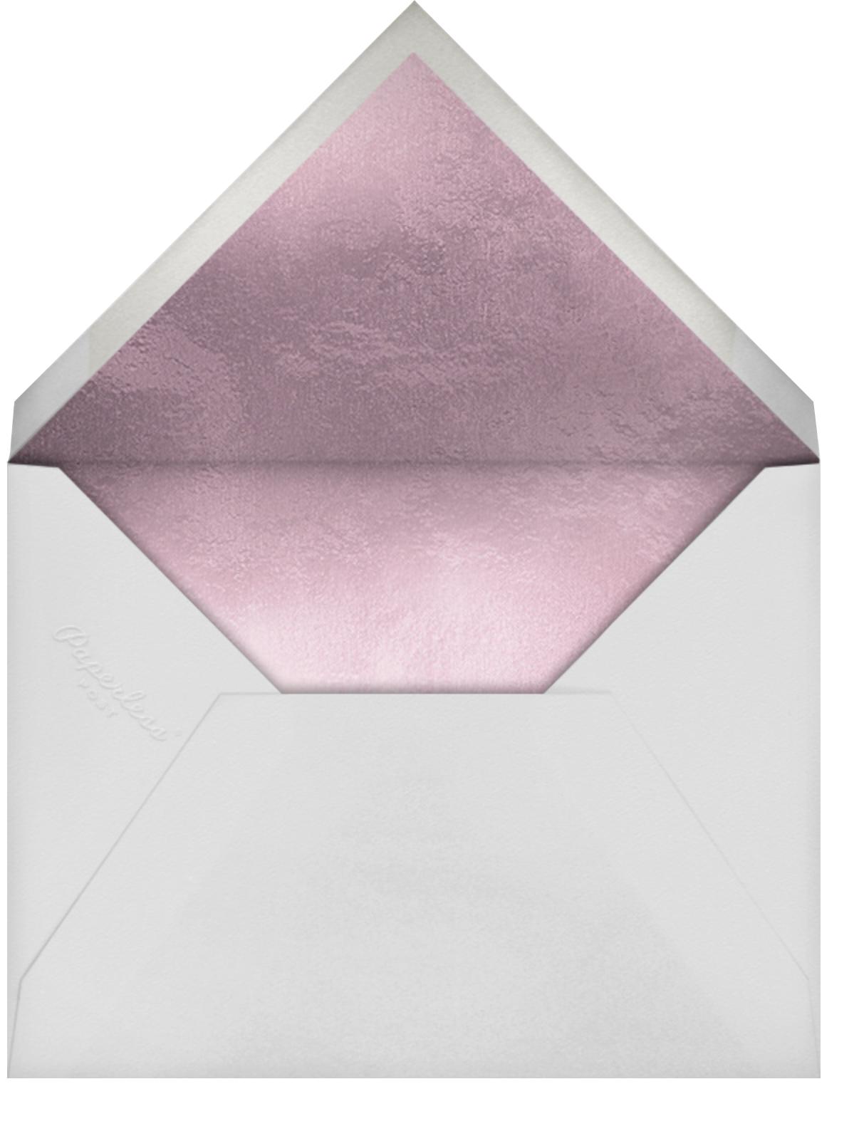 Shimmering Blooms - Paperless Post - Quinceañera - envelope back