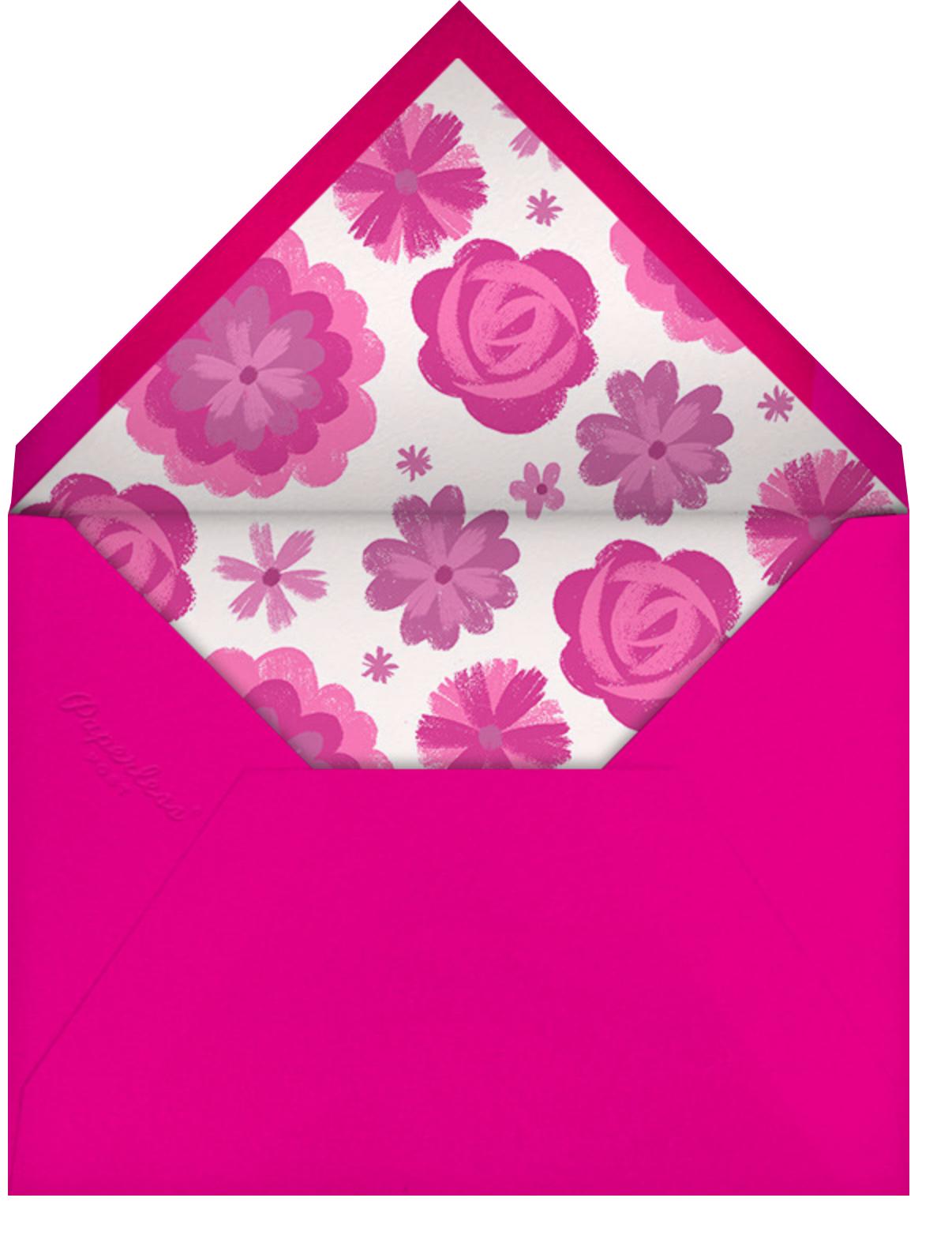 Flores Pintadas - Paperless Post - Quinceañera - envelope back
